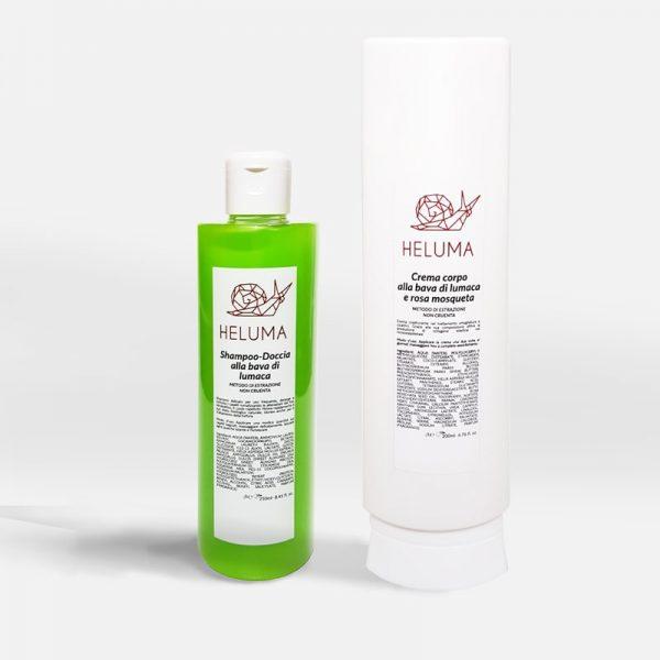 Shampoo Doccia e Crema Corpo alla Bava di Lumaca